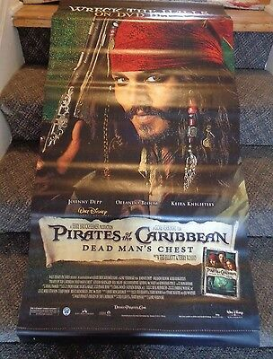 PIRATES OF THE CARIBBEAN Dead Man's Chest DISNEY Movie Canvas 48x24 Poster 2006