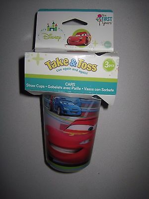 The First Years 3 Pack Disney/Pixar Cars Take & Toss Straw Cup