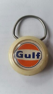 Vintage Gulf Key Chain Clinic Gas Station Repair & Service Webster New York