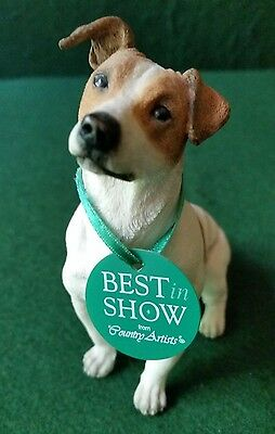 """Country Artists Best in Show """"Jack Russell Sitting"""" Dog Figurine 01636 NEW W TAG"""