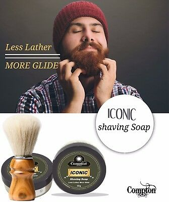 Compton Iconic Shave Soap & Brush Set