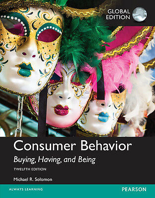Consumer Behavior: Buying Having and Being 12E by Michael G. Solomon 12th (IE)