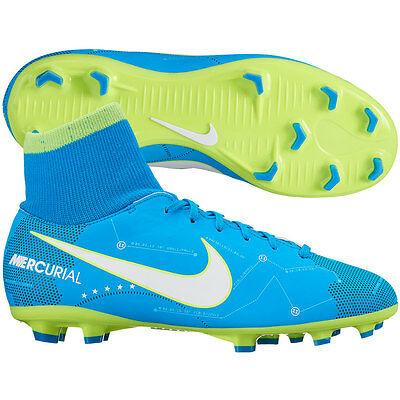 0f6cebc61110 Nike Mercurial Neymar NJR Victory VI FG 2017 DF Soccer Shoes Blue Kids Youth