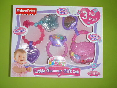 New In Box - Fisher Price Brilliant Basics Little Glamour Gift Set Baby 3 - 18 M