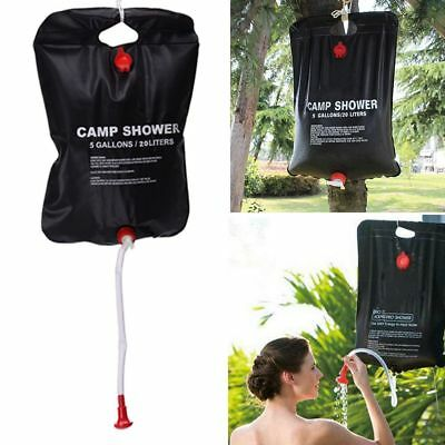 20L Outdoor Solar Shower Bag Camping Shower Water Sun Compact Heated Portable CA