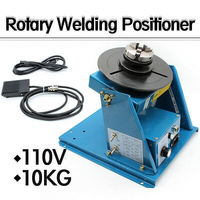 "110V Auto Rotary Welding Positioner Turntable Table Mini 2.5"" 3 Jaw Lathe Chuck"