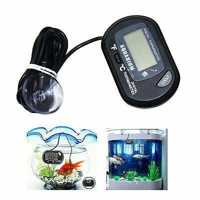 Fish / Reptile Aquarium Water Tank Thermometer Temperature LCD Digital Display