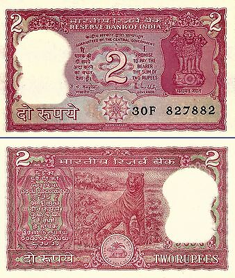 India 2 Rupees ND(1985-90) banknote Letter A. Sig. Malhotra - UNC