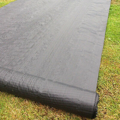 20m x 1m 100gsm Weed Control Fabric Ground Cover Membrane Landscape Mulch Grden