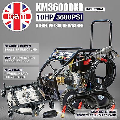Kiam KM3600DXR Diesel Jet Washer Pressure Roof Cleaning Pack Tile Adjustable