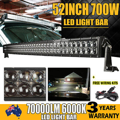 """52INCH 1000W Philips CURVED LED LIGHT BAR SPOT&FLOOD OFFROAD 4X4WD ATV TRUCK 50"""""""