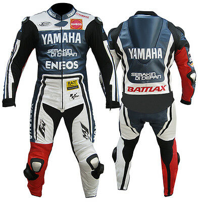 Yamaha Eneos Motorbike Leather Suit Motogp Motorcycle Leather Jacket Trouser