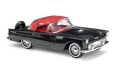 Busch H0, 45238 Ford Thunderbird, Cabriolet Closed, Black, Car Model 1:87