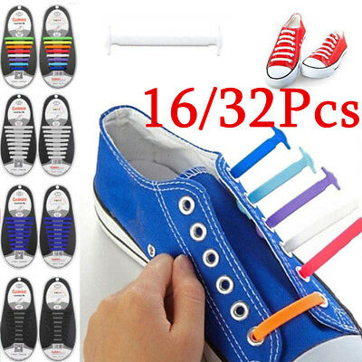 16/32 X Lazy No Tie Shoelaces Silicone Shoelaces Elastic Shoe Laces for Sneakers