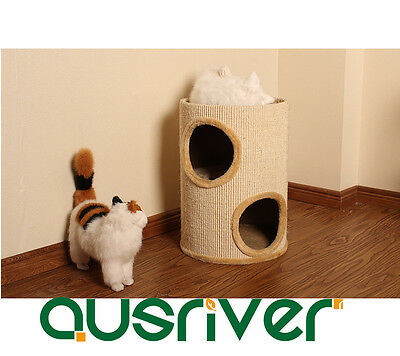 Cat Scratching Cylinder Post Pole Tower Tree Gym House Furniture Bed