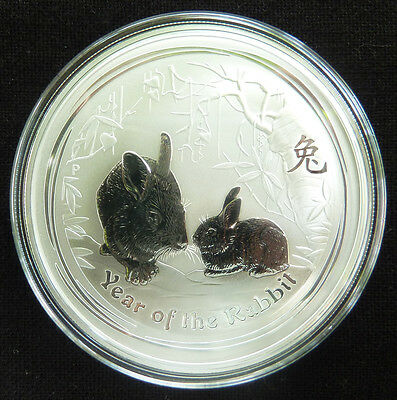 """2 oz Lunar II silver coin 2011, Rabbit """" rare """"  from sealed roll"""