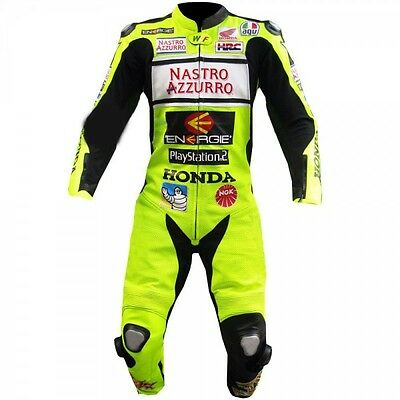 Honda Racing Motorcycle Leather Suit Moto Gp Motorbike Leather Jacket Trouser