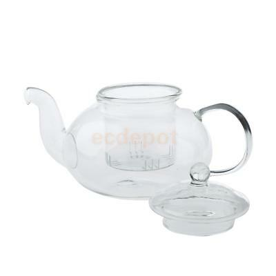 Heat Resistant Clear Glass Teapot with Infuser Coffee Tea Herbal Set 400ml