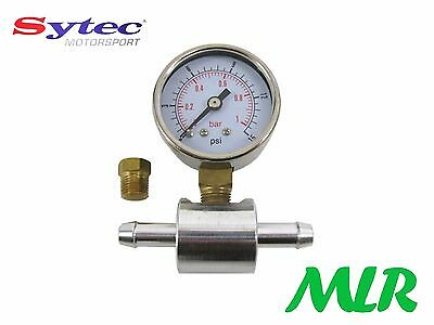 Fuel Pressure Gauge & 8Mm Adaptor For Fuel Pumps/Regulators Twin Weber Carbs Wo