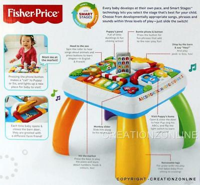 Laugh & Learn By Fisher Price Learning Table Ages 6 - 36 Months Smart Stages