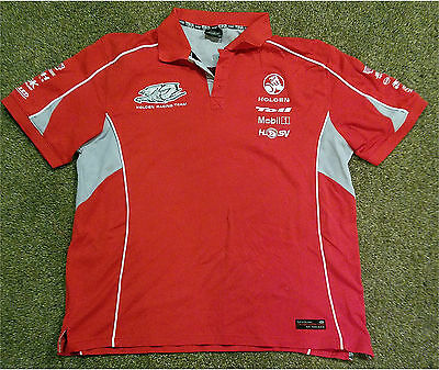 HOLDEN RACING TEAM RED SHORT SLEEVE Shirt 2XL OFFICIAL MERCHANDISE EMBROIDERED