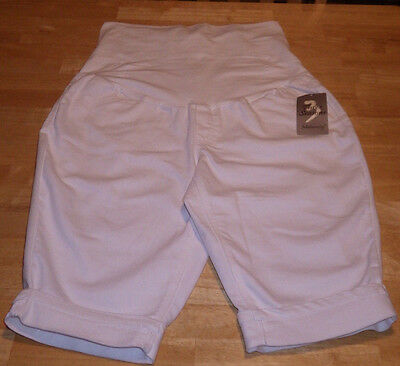 NWT Three Seasons Maternity women's size L white shorts with stretch top