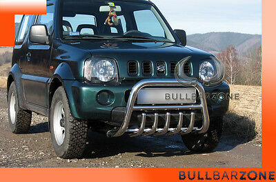 Suzuki Jimny 98-05 Tubo Protezione Medium Bull Bar Inox Stainless Steel!