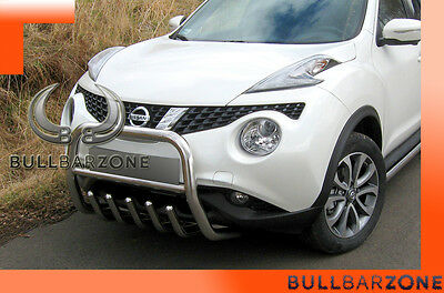 Nissan Juke 2010-2013 Tubo Protezione Medium Bull Bar Inox Stainless Steel!