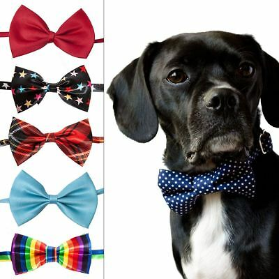 Cute Pet Dog Cat Patterned Bow Ties Adjustable COllar Necktie
