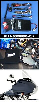J&M JMAA-4000HR06-RCR Performance Series 400w Amp Kit 06-13 Harley Road Glide