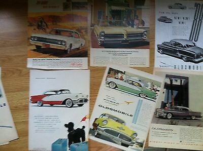 "100 1930s-1950s OLDSMOBILE Classic Car AD all 10x14"" SIZE 15c ea 7 2pg LOT 4"