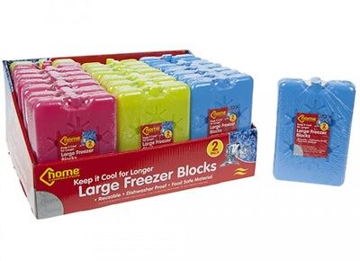 FREEZER COOL BLOCKS ICE PACKS COOLER BOX BAG REUSABLE TRAVEL LUNCH 1, 2, or 3 PK