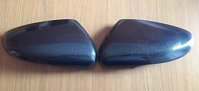 Carbon Door Wing Mirror Covers For Volkswagen Vw Golf Mk6 Vi Touran