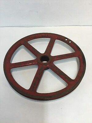 indusrial pully gears steampunk decor Red