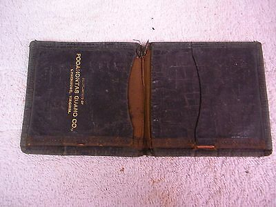 Antique Wallet Compliments of Pocahontas Guano Co Lynchburg VA Advertising Rare