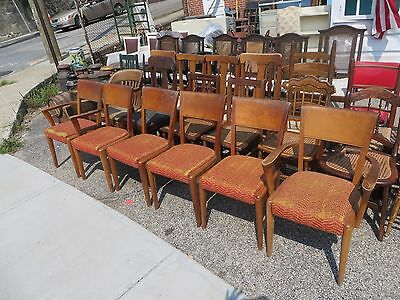 Heywood Wakefield  6 Chairs Maple Sturdy With Captains  CHEAP!!