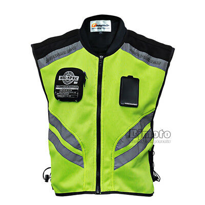 High Vision Racing Jacket Off-Road Reflective Cycling Vest Tops Waistcoat Jacket