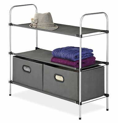 Cart Storage Utility Rolling Closet Cabinet Shelving Rack Commercial HEAVY DUTY