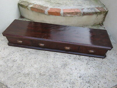 Antique Mahogany Veneered 3 Drawer Shop Counter Drawer Unit