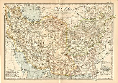 1903 Britannica Antique Map-Persia (Iran) Afghanistan And Baluchistan