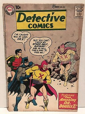 Detective Comics #261 1958 1st Appearance Of Dr. Double X Good+ Comic Batman