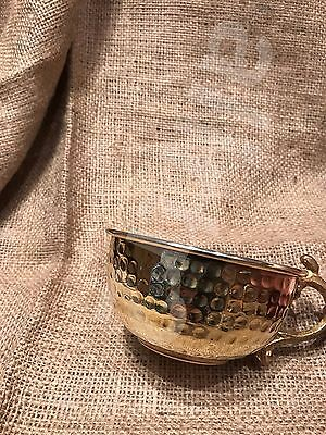 Gold color Copper Shaving Bowl / Mug / Cup with handle, for Shaving Brush