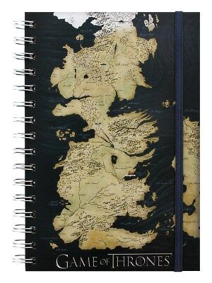Game of Thrones Map A5 Notebook Black