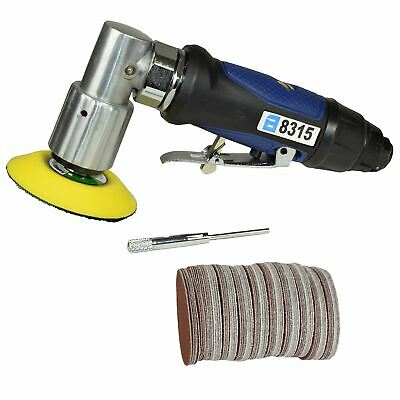 "3"" 75mm Air Angle Sander Grinder Polisher Sanding and 100 pack mixed discs"
