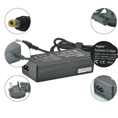 Power Adapter, 12 Volt 5 Amp, 12V 5A Supply LCD Adaptor charger PLUG UK