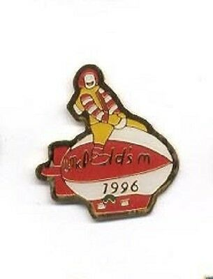Oddball Ronald McDonald Clown Riding Derigible Blimp 1996 McDonald's Lapel Pin