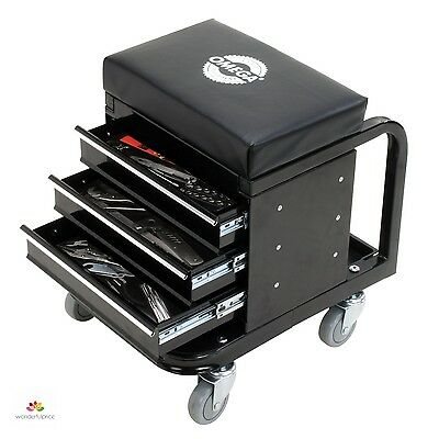 Car Repair Tools Mechanic Stool Garage Seat Creeper Roller Cart Tool Box Storage