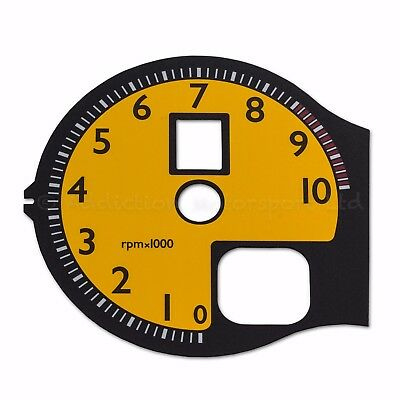 360 Modena/Spider Tachometer Panel in Yellow with 430 numeric stiling