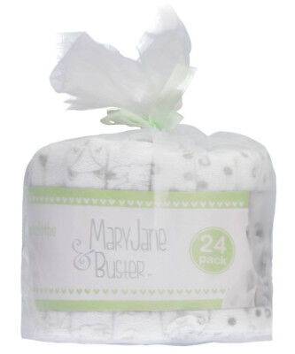 """Mary Jane & Buster """"Soft Wash"""" 24-Pack Terry Washcloths"""