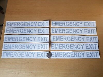 legal lettering EMERGENCY EXIT for bus coach or taxis x10